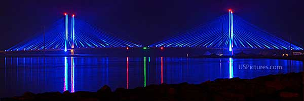 Indian River Bridge Lighted at Night
