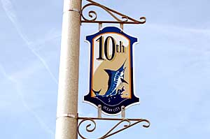10th Street Sign in Ocean City
