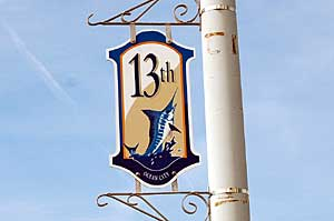 13th Street Sign in Ocean City