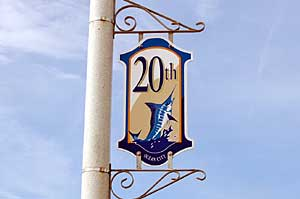 20th Street Sign in Ocean City