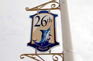 26th Street Sign in Ocean City
