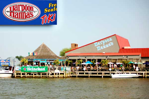 Harpoon Hanna�s is a casual waterfront restaurant and bar featuring the Freshest Fish - Ocean City Maryland