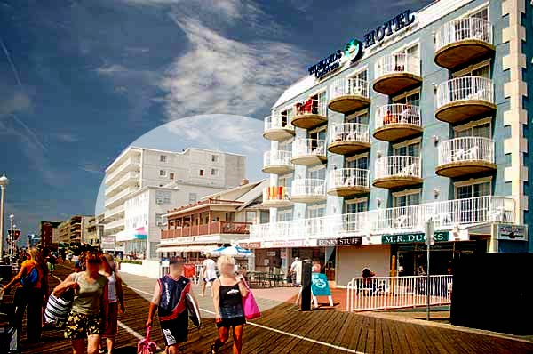 Oceanfront on the boardwalk apartments, hotel/motel offering weekly and daily rentals - Ocean City Maryland