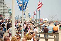 Crowd on the Boardwalk for the Air Show
