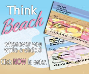 Beach Theme Personal Checks