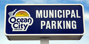 Ocean City Municipal Parking Sinage