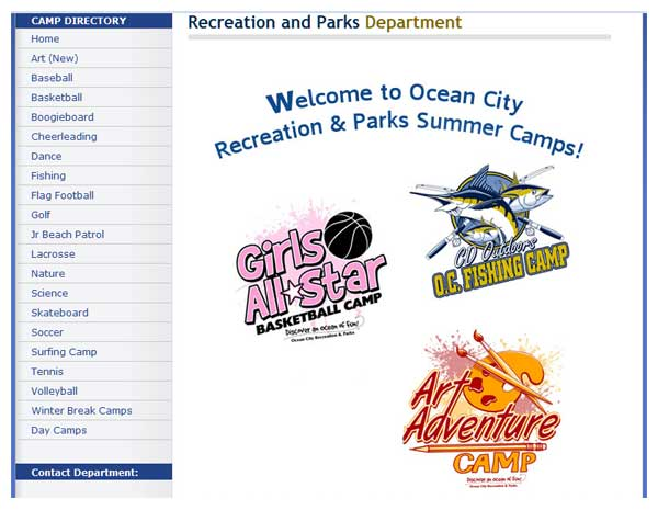 Ocen City Summer Camps page image